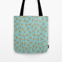 giraffes Tote Bags featuring Giraffes! by Kashidoodles Creations