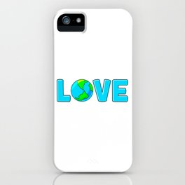 Planet Earth Love For Environment and Earth Day iPhone Case