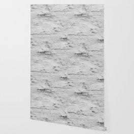 White Marble with Black Flecks Wallpaper