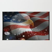 patriots Area & Throw Rugs featuring Patriotic America by Barrier Style & Design
