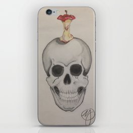 Skull and Apple iPhone Skin