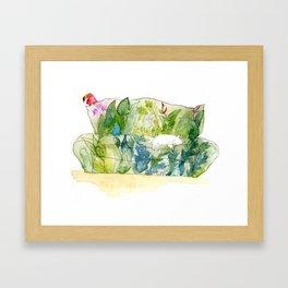 Cat Couch Framed Art Print