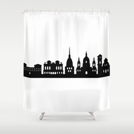 Turin Skyline Shower Curtain