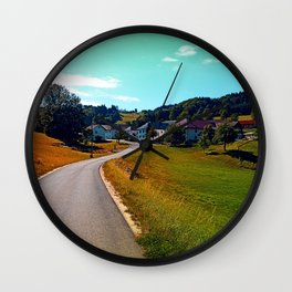 Country road, take me nowhere Wall Clock