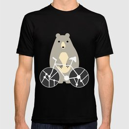 Bear with bike T-shirt