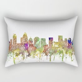 Charlotte, North Carolina Skyline SG - Faded Glory Rectangular Pillow