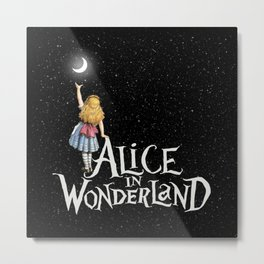 Alice In Wonderland Starry Night Metal Print