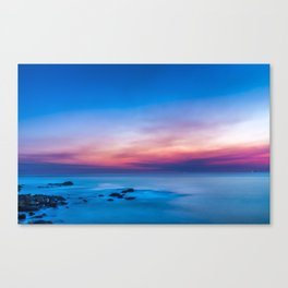 Sunset long exposure over the ocean Canvas Print