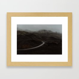 A road in Iceland Framed Art Print