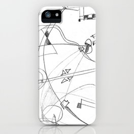 paradise in pencil iPhone Case