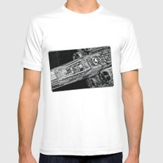 X-Wing Fighter MEDIUM Mens Fitted Tee White