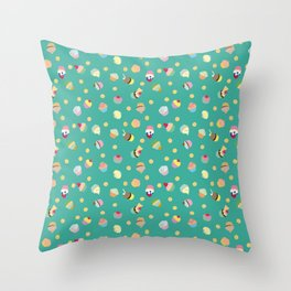 Cups & Cakes Throw Pillow