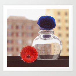Glass Flowers Art Print