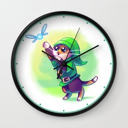 Cosplay Kittens - Kitten of Time Wall Clock