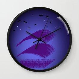 sailing night Wall Clock