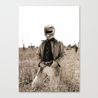 power ranger Canvas Prints featuring Power Texas Ranger by Bakus