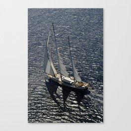 aerial view sailboat Canvas Print