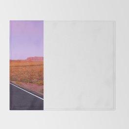 U.S. Highway 163 - Monument Valley, Utah Throw Blanket