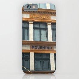 mourning iPhone Case