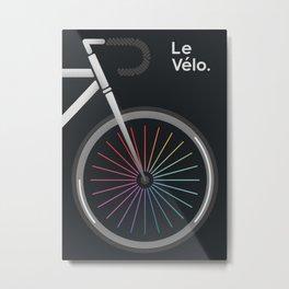 Le Velo Noir Metal Print