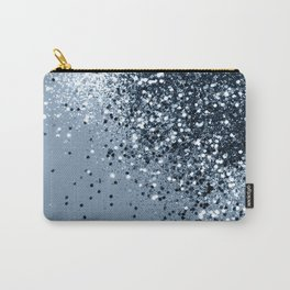 Sparkling Blue Lady Glitter #1 #shiny #decor #art #society6 Carry-All Pouch