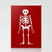 skeleton Stationery Cards featuring Skeleton by Emma Harckham