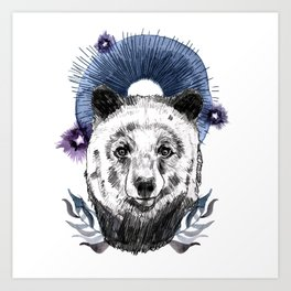 The Bear (Spirit Animal) Art Print