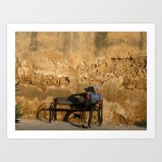 Man in Meknes, Morocco Art Print
