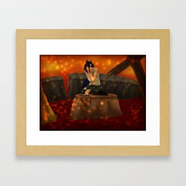 The lonely Queen Framed Art Print