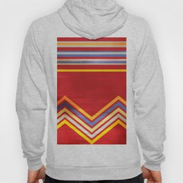 Stripes and Chevrons Ethic Pattern Hoody