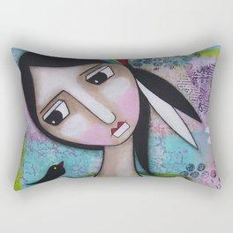 Self-Confidence Rectangular Pillow