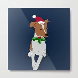 Christmas pup Metal Print