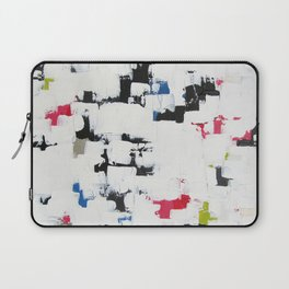 "No. 30 - Print of Original Acrylic Painting on canvas - 16"" x 20"" - (White and multi-color) Laptop Sleeve"