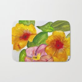 Hibiscus Flowers Bath Mat