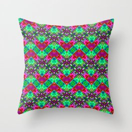 Stitched Vibrant Zigzags Throw Pillow