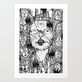 Myself and My Others Art Print