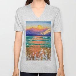 Sunset on the ocean Unisex V-Neck