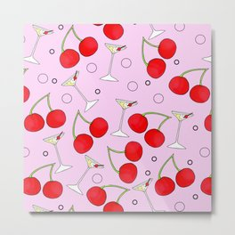 Cherries n Cocktails and Little Fizzy Bubbles Metal Print