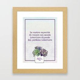 Inner Forgiveness (Italian) Framed Art Print