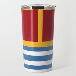 vintage primary colors Travel Mug