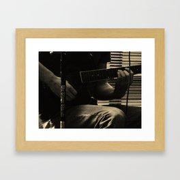 Musician's Hands Framed Art Print