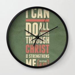Philippians 4:13 Wall Clock