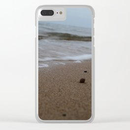 Waves crashing on the beach Clear iPhone Case
