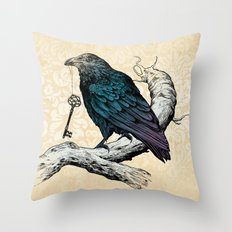 Raven's Key Throw Pillow