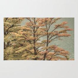 Nature Scene Colored Trees at Glacier Lake- Patagonia Argentina Rug