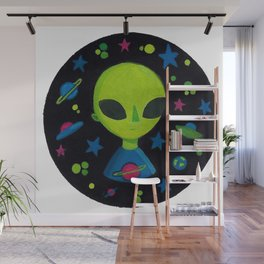 Gouache Alien Wall Mural