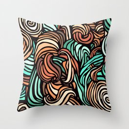 Swirl Design Throw Pillow