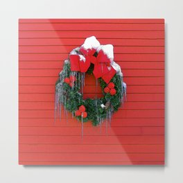 Winter Wreath Metal Print