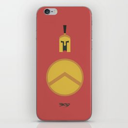 300, minimal movie poster,  Frank Miller, Zack Snyder, Gerard Butler, graphic novel iPhone Skin