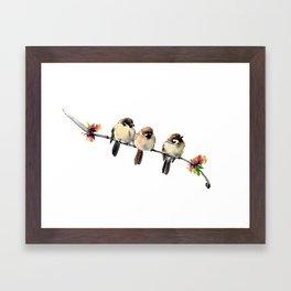 Three Birds Framed Art Print